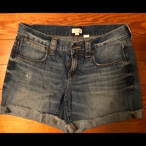 Jcrew denim shorts size 26